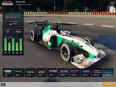 Motorsport Manager: Trama del Gioco