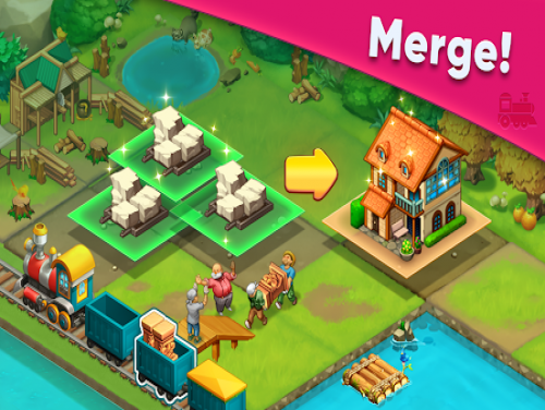 Train town - 3 match merge magic puzzle games: Plot of the game