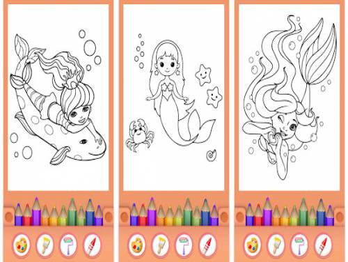 Sirene da colorare - Principessa LIBRO DA COLORARE: Trama del Gioco