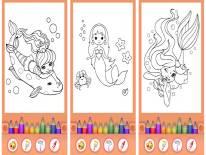 Sirene da colorare - Principessa LIBRO DA COLORARE: Trucchi e Codici