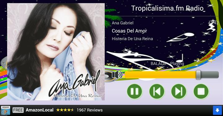 Ascolta Tropicalisima FM. Clicca per Ascoltare. Clicca di Nuovo per Fermare la Riproduzione.