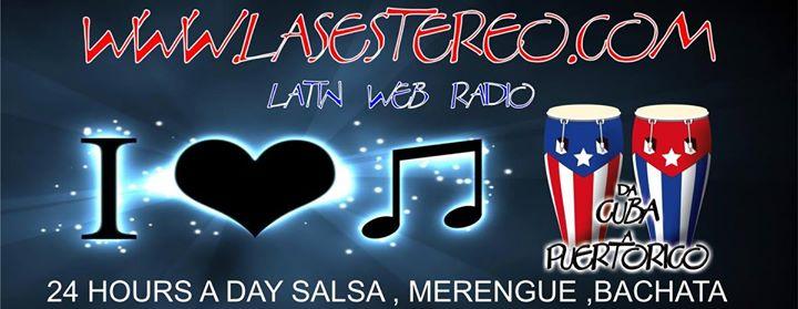 Ascolta Lasestereo Latin Web Radio. Clicca per Ascoltare. Clicca di Nuovo per Fermare la Riproduzione.